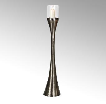 Laza floor storm lamp w/glass insert round