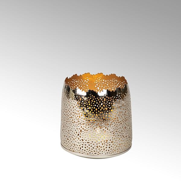 Sonam votive perforated round iron