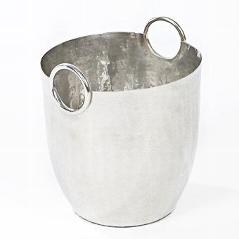 Paarl wine cooler aluminium hammered,