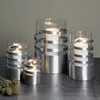 Spiral storm lantern aluminium mini