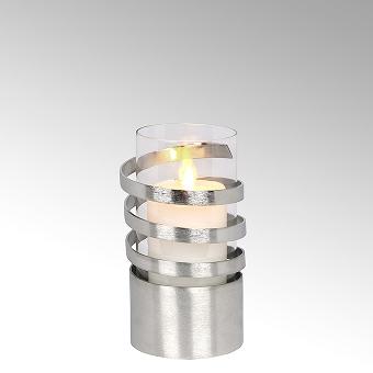 Spiral storm lantern aluminium small