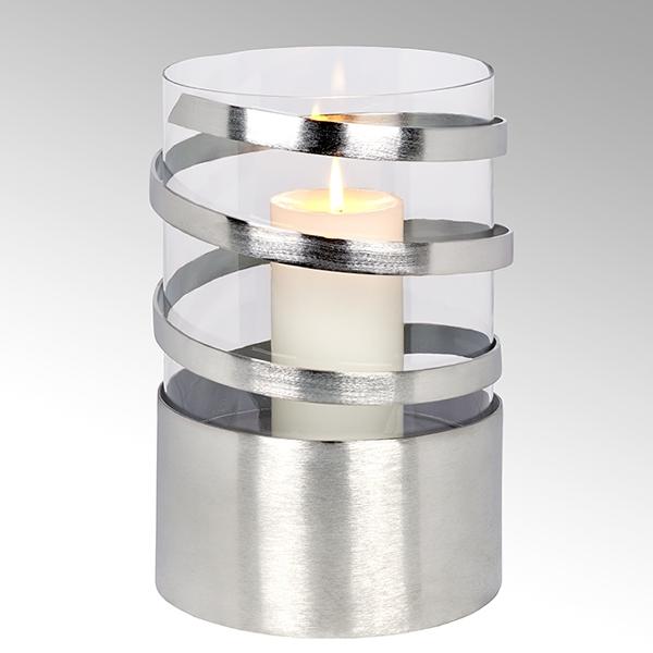 Spiral Windlicht Aluminium groß