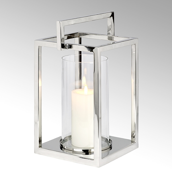 Lamparilla lantern with handle stainless steel