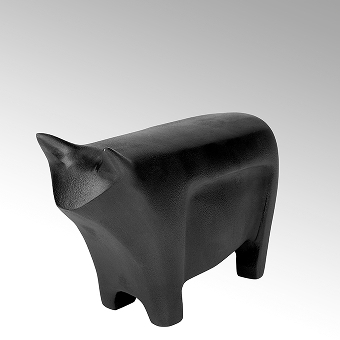 Bull Figur Aluminium Sandguß