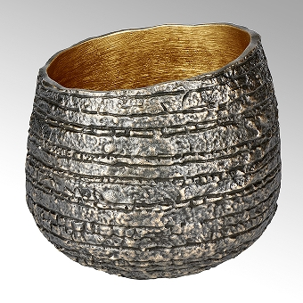 Niwa Gefäß Aluminium patiniert