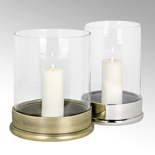 Bao Windlicht klein Aluminium mit Glaseinsatz