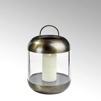 Sala lantern stainless steel with glass insert