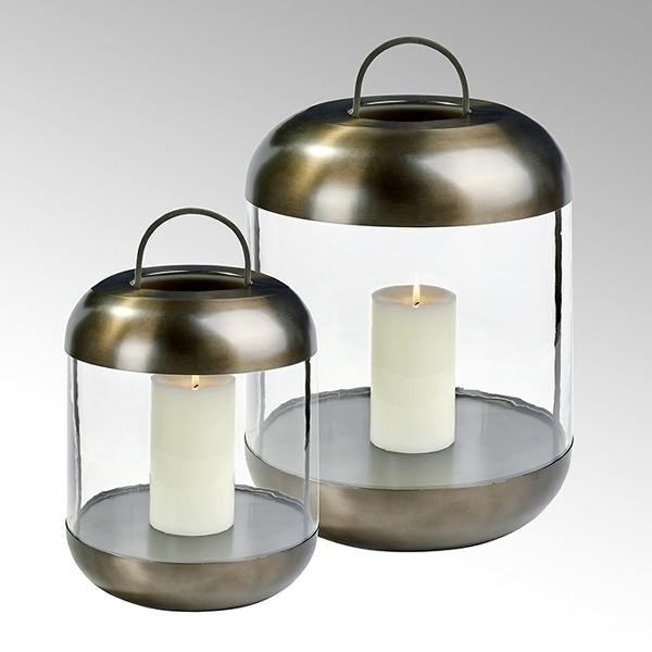 Sala Laterne Edelstahl mit Glaszylinder