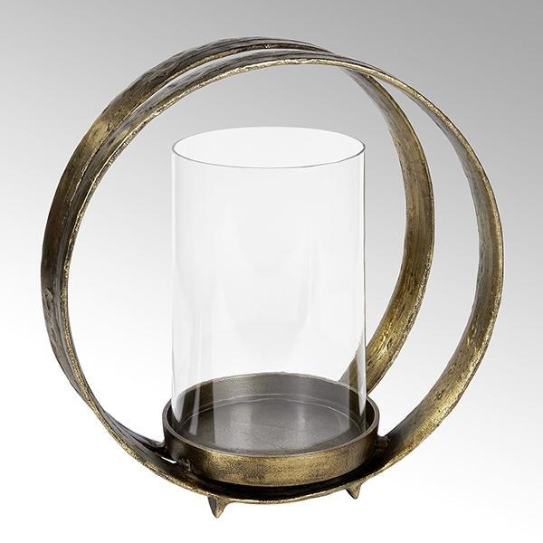 Lumberto hurricane aluminium with glass insert