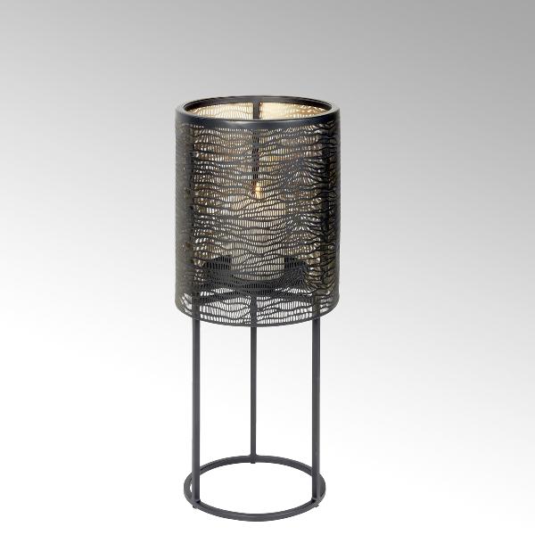 Hiroko Kerzensäule klein, Eisen, schwarz/gold
