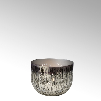 Osako tealight holder, iron, bronce-platin
