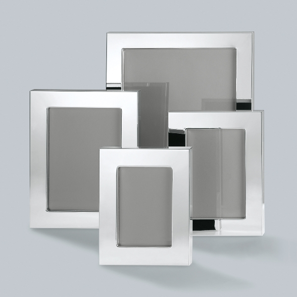 Savannah picture frame for 13x18 cm, silverplated