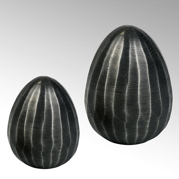 Berry egg aluminium graphite large 10x8cm