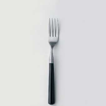 Daily fork stainless-steel L 2o cm black handle