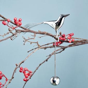 Navidad bird aluminium/brass