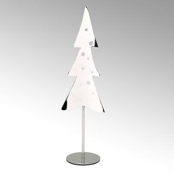 Woody tealightholder Xmas tree stainless steel