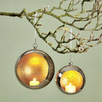 Pollux tealightholder iron etched round