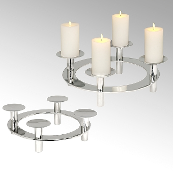 Uranus table top wreath with 4 candleholders