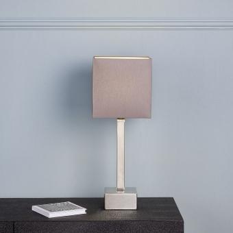 Manhattan table lamp w/shade colour brown