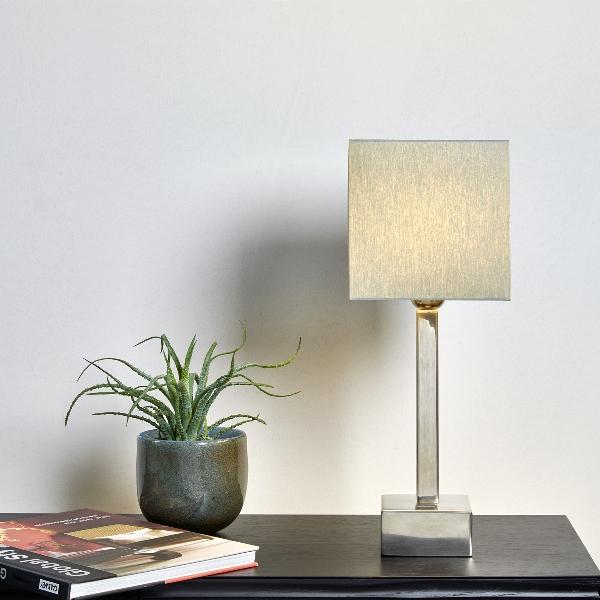Manhattan table lamp w/shade colour grey