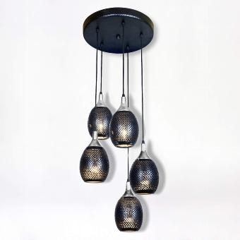 "Fadi Suspended lamp, ""5 lamp shades"""