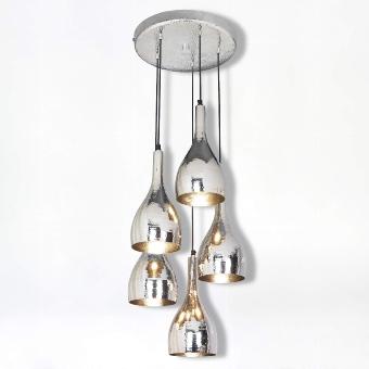 "Latifa Suspended lamp ""5 lamp shades """