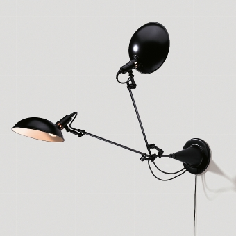 Switch On wall lamp black 2-arm