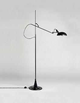 Switch On 1 arm standard lamp black H160-225 cm