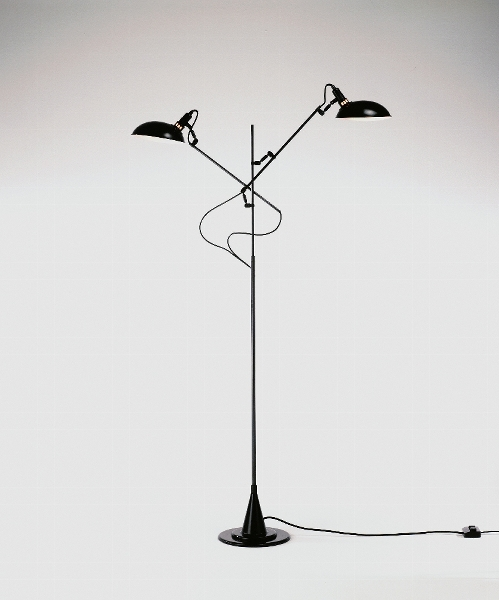 Switch On 2-arms standard lamp black H160-225 cm