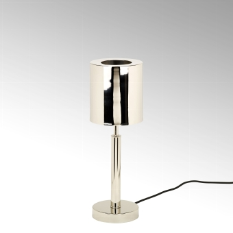 Tribeca table lamp stainless steel/brass