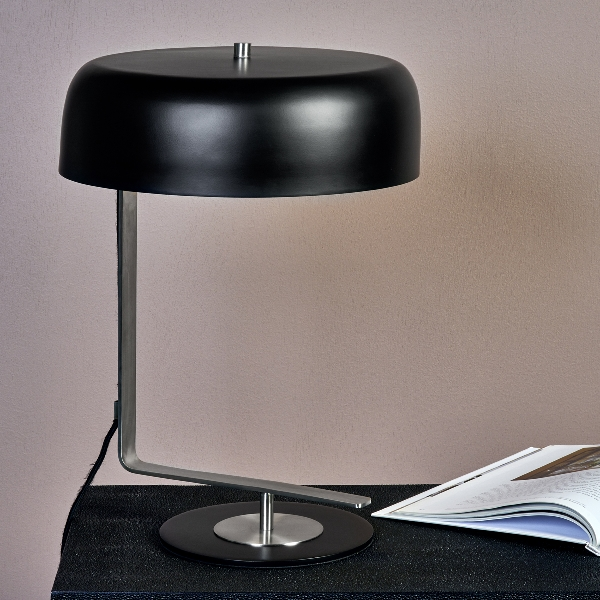 Germain table lamp stainless steel/powdercoated bl