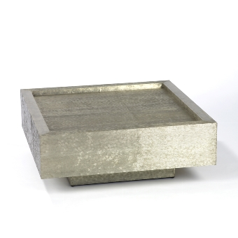 Tresor table white metal 80x80 H30,5cm
