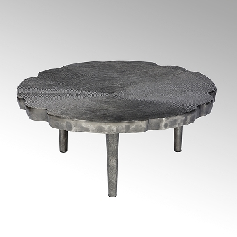 Toshiko Couchtisch Aluminium Sandguss groß
