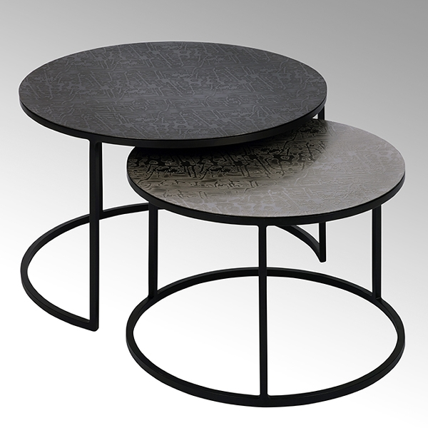 Maddox coffee table set of 2 round