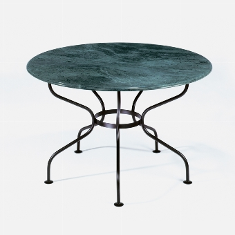 Provence table, top marble green - H76 D 125 cm