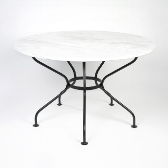 Provence table, top marble white - H76 D 125 cm