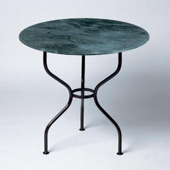 Tete a Tete table top marble green H 76 D 79 cm
