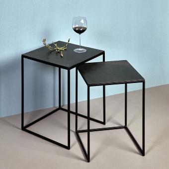 Dado side table set metal stand aluminium
