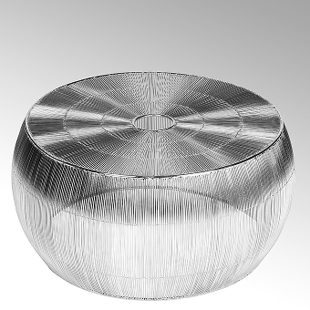 Obhan coffee table woven wire nickel plated