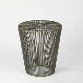 Thoban stool / side table woven wire, natural