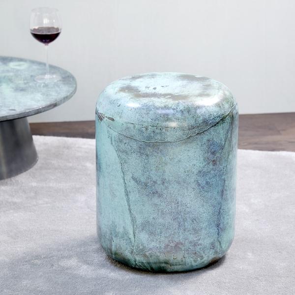 Jade stool/side table steel