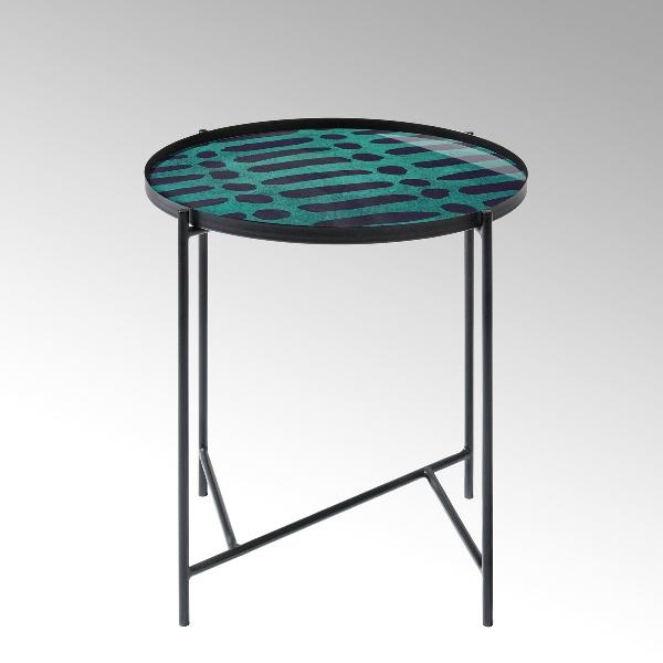 Tabio Beistelltisch rund mit Glasplatte D46 cm