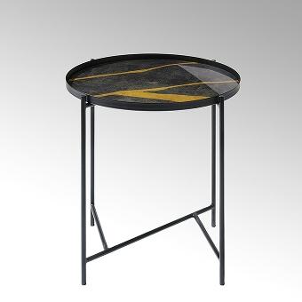Tabio Bestelltisch rund mit Glasplatte D46 cm