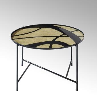 Tabio Couchtisch rund mit Glasplatte D60 cm