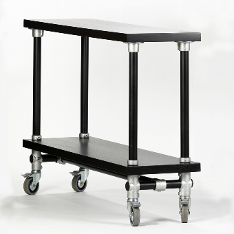 Industrie Highboard black 150x40 H105cm