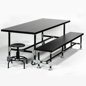 Industrie black bench 222ox4o H45