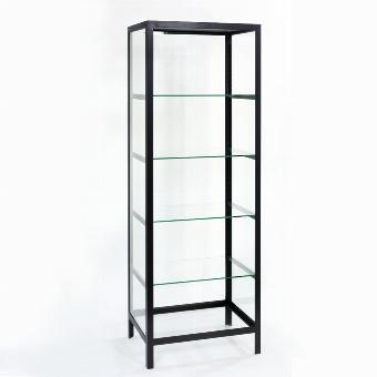 Schneewittchen glass-cabinet iron black 75x55x21o