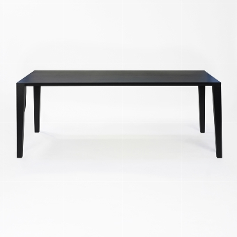 ARACOL table oak solid black stained