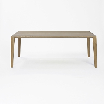 ARACOL table oak solid white oiled