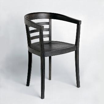 Julius chair oak stained black 53x53x78 cm